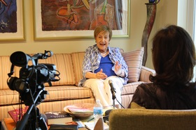Joy Picus during her oral history interview, 2015.