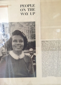"Photograph of article ""People on the Way Up,"" featuring Norma Gibbs."