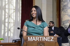 Councilwoman Nury Martinez when she first was elected, 2015.