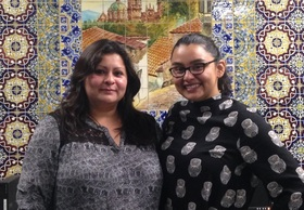 Marisol Rivera with interviewer, Analia Cabral, 2015.
