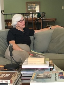 Molly McClanahan during her oral history interview, 2016.