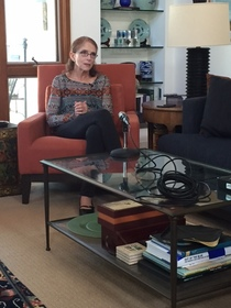 Ruth Goldway during her oral history interview, 2016.