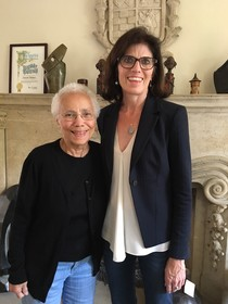 Rita Walters with interviewer, Dr. Natalie Fousekis, 2017.
