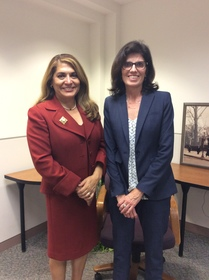Sharon Quirk-Silva with interviewer, Natalie M. Fousekis, 2017.