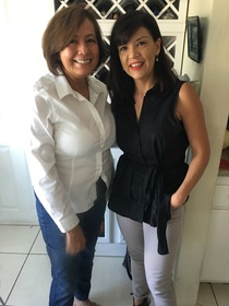 Rosario Marín with interviewer, Brenda St. Hilaire, 2017.